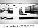 abstract dynamic interior with... | Shutterstock . vector #757351870