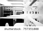 abstract dynamic interior with... | Shutterstock . vector #757351888