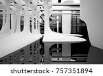 abstract dynamic interior with... | Shutterstock . vector #757351894