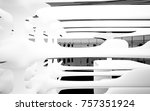 abstract dynamic interior with... | Shutterstock . vector #757351924
