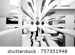abstract dynamic interior with... | Shutterstock . vector #757351948