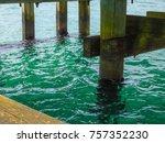 under the pier water | Shutterstock . vector #757352230