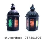 beautiful lantern isolation on... | Shutterstock . vector #757361908