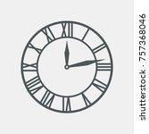 vintage clock vector | Shutterstock .eps vector #757368046