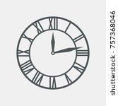 Vintage Round Clock Roman Hour...
