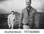 black and white portrait.... | Shutterstock . vector #757368880