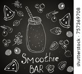 menu  healthy drinks and... | Shutterstock .eps vector #757369708