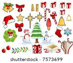 christmas stuff | Shutterstock . vector #7573699