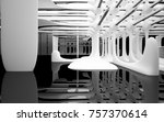 abstract dynamic interior with... | Shutterstock . vector #757370614