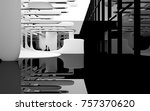abstract dynamic interior with... | Shutterstock . vector #757370620