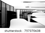 abstract dynamic interior with... | Shutterstock . vector #757370638