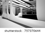 abstract dynamic interior with... | Shutterstock . vector #757370644