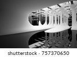 abstract dynamic interior with... | Shutterstock . vector #757370650