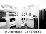 abstract dynamic interior with... | Shutterstock . vector #757370668