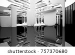 abstract dynamic interior with... | Shutterstock . vector #757370680