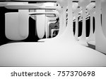 abstract dynamic interior with... | Shutterstock . vector #757370698