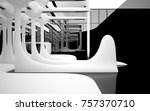 abstract dynamic interior with... | Shutterstock . vector #757370710