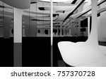 abstract dynamic interior with... | Shutterstock . vector #757370728