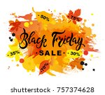 black friday sale text on... | Shutterstock .eps vector #757374628