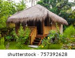 bungalow. exotic tourism. the...   Shutterstock . vector #757392628