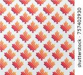 maple leaf vector background  | Shutterstock .eps vector #757402930