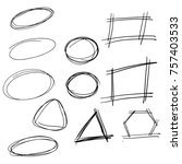 hand drawn arrows made in vector | Shutterstock .eps vector #757403533