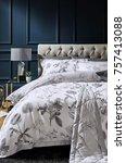 classic bedroom interior with... | Shutterstock . vector #757413088