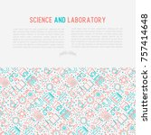 science and laboratory concept... | Shutterstock .eps vector #757414648