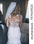 morning of the bride.... | Shutterstock . vector #757419523