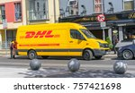 editorial use only  a dhl... | Shutterstock . vector #757421698