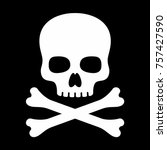 skull vector icon | Shutterstock .eps vector #757427590