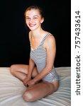 beautiful woman nice figure...   Shutterstock . vector #757433614