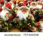 stands with a lot christmas... | Shutterstock . vector #757434358