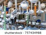 kitchen utensils in a shop in... | Shutterstock . vector #757434988