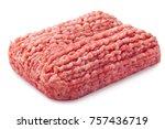 minced meat  pork  beef ... | Shutterstock . vector #757436719