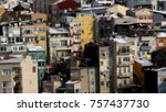 an out of focus view on... | Shutterstock . vector #757437730