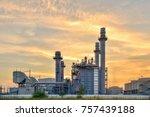 gas turbine electrical power... | Shutterstock . vector #757439188