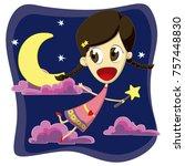 fairy little dream | Shutterstock . vector #757448830
