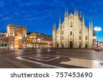 panorama of the piazza del... | Shutterstock . vector #757453690