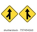 left   right merging traffic... | Shutterstock .eps vector #757454263