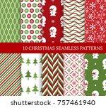 ten christmas different... | Shutterstock .eps vector #757461940