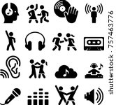 dance party icons | Shutterstock .eps vector #757463776