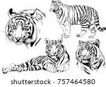 set of vector drawings on the... | Shutterstock .eps vector #757464580