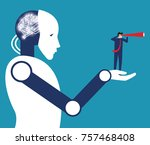 investor and artificial...   Shutterstock .eps vector #757468408