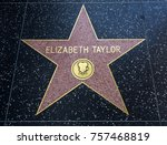 elizabeth taylor's star ... | Shutterstock . vector #757468819