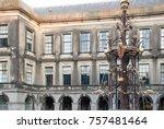 binnenhof palace  place of... | Shutterstock . vector #757481464