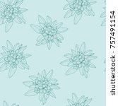 beautiful pattern of floral ... | Shutterstock .eps vector #757491154
