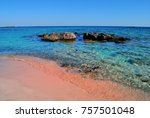 elafonisi beach with the pink... | Shutterstock . vector #757501048