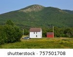 carbot trail in cape breton... | Shutterstock . vector #757501708
