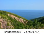 carbot trail in cape breton... | Shutterstock . vector #757501714
